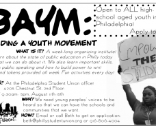 BAYM (Building a Youth Movement)! Apply today!