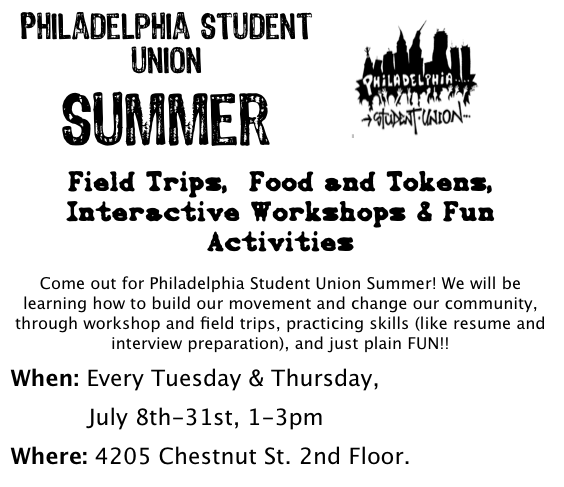 Summer Programs at the Philadelphia Student Union